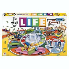 Hasbro The Game of Life The Simpsons Edition Family Board Game Ages 9+ 2-6player