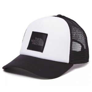 The North Face Logo Trucker Cap Adults Adjustable Black White Snapback
