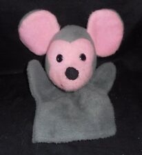 VINTAGE 1972 ANIMAL FAIR MILEY MOUSE GRAY PINK HAND PUPPET STUFFED PLUSH TOY OLD