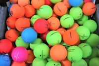 24 Assorted Matte Color Mix Near Mint AAAA Used Golf Balls
