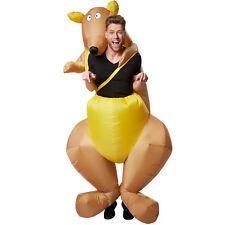 Selbstaufblasbares Unisex Kostüm Känguru Huckepack aufblasbar Fasching Karneval