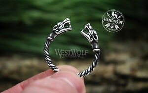 Viking Fenrir Wolf Head Ring - Made of 925 Sterling Silver - US Sizes 9/10/10.5