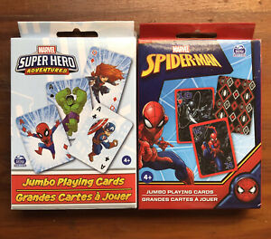 Lot Of 2 Marvel Super Hero Adventures & Spider-Man Jumbo Playing Cards New