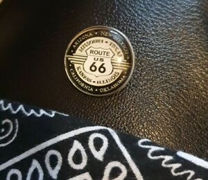 Biker Rockabilly Route 66 Fish Eye Pin Badge New