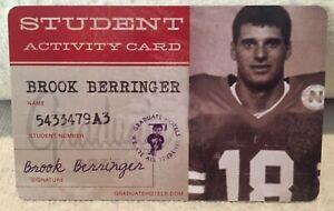 Nebraska Cornhuskers Football Brook Berringer Student ID/Hotel Key Card