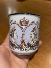 Victorian/19th Century Queen Victoria' Diamond Jubilee - Enamel Childs Cup/mug