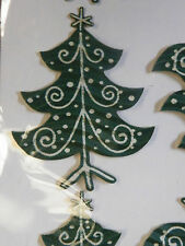 TREE DECORATION STICK ON CARDS CRAFTS EMBELLISHMENTS