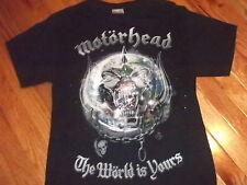 MOTORHEAD The World Is Yours 2011 tour shirt Adult Medium Lemmy