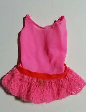 Vintage 1970 BARBIE TNT P.J. DOLL #1118 Pink Tricot Bathing Suit Swimsuit
