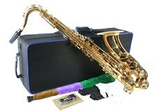 TENOR SAXOPHONE Key of Bb GOLD LACQUER  + Free Case, Accessories  New