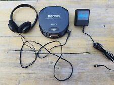 Sony Discman D-151 + Zubehör Vintage CD Spieler Volle Leistung Tragbarer Player