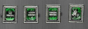 The Munsters TV Flicker Ring set of four Metal