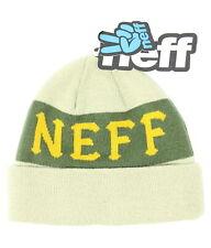 Neff Mens Mate Fold Beanie Twill Green One Size New
