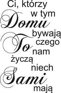 Polskie Naklejki na Sciane Polish Wall Sticker Polskie Cytaty Dekoracje Domu