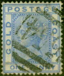 Gold Coast 1883 1d Blue SG10 Fine Used Stamp