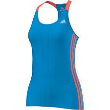 Adidas Response Cup Womens Breathable Running Sports Training Tank Top Vest Blue