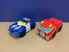 Playskool Heroes Transformers 2012 Lot of 2 - Police Bot Chase/Fire Bot Heatwave
