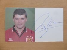 1994-96 Roy Keane Signed Man Utd Official Club Card (14058)