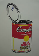 Limited POP ART edition silkscreen serigraph, Soup, signed Andy Warhol w DOCS