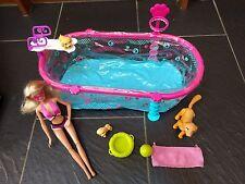 Barbie chiot swim school pool, doggie park, la propreté chiots chiens poupées