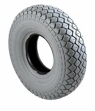 4 x Mobility Scooter Tyres  & Tubes 330x100 400x5 Grey Diamond Block Tread