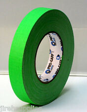 "Pro Gaff Gaffers Tape 1"" x 50yards Fluorescent Green PG1FLGR"