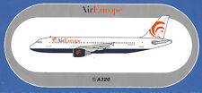 Air Europe Italian Airlines Sticker Airbus A320