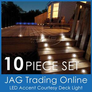 10 x LED DECK/GARDEN/STAIR/COURTESY/ACCENT LIGHTS - Boat/Marine/Caravan/Cabin