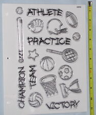 16 Designs of Sports Stamps - Football Baseball Basketball - Clear Acrylic Stamp