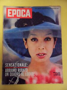 RIVISTA EPOCA N°570-1961.MARISA DEL FRATE-BONIPERTI GIAMPIERO LOUVRE HAWAI