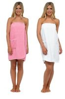Ladies Womens Luxury Towel Towelling Gown Robe Wrap Spa Bath Beach Shower Cotton