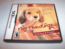 Nintendogs Dachshund & Friends Nintendo DS Lite DSi XL 3DS 2DS w/Case & Manual