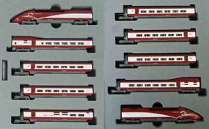 Kato 10-1658 Thalys PBKA New Painting 10 Cars Set (N scale)