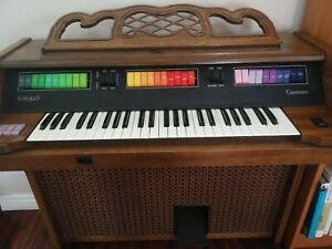 """Kimball Caravan """"The Entertainer"""" Organ with Bench Seat and Sheet music"""