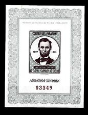 PARAGUAY - BF - 1963 - Abraham Lincoln (1809-1865)