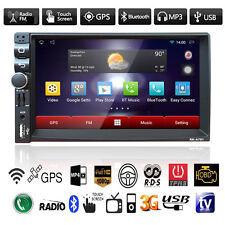 "Quad Core Android Gps Nav 7"" Hd Car Stereo Radio Mp3 Mp5 Player Bluetooth Fm/Usb"