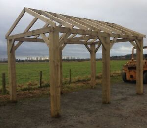 New 16ft wooden car port / bbq hot tub shelter / Gazebo Delivery Available