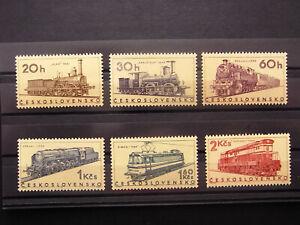 Tschechoslowakei Ceskoslovensko Satz Michel 1603-1608 Eisenbahn Postfrisch **