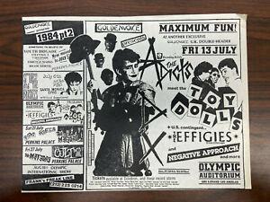 Toy Dolls, Youth Brigade Olympic Auditorium Original Punk Rock Flyer 1980s KBD