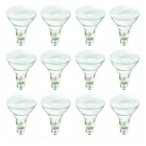 Philips 65-Watt Incandescent BR30 Flood Light Bulb Soft White 2700K 12-Pack