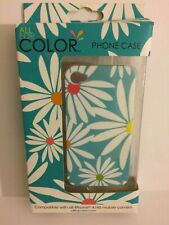All For Color iPhone 4/4S Cell Phone Rubberized Snap On Case Multicolored Floral