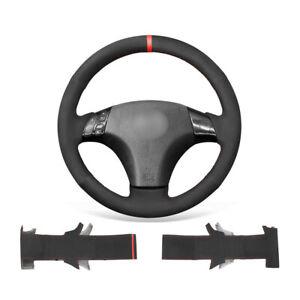 Black Suede Non-slip Car Steering Wheel Cover Wrap For Mazda 3 Axela/5 6 Atenza