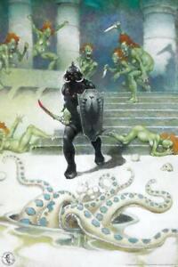 Death Dealer 7 by Frank Frazetta Art Print Poster 24x36 inch