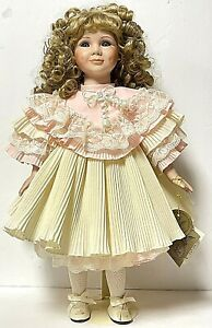 """Vintage 19"""" Porcelain VERONICA Doll Kingstate Corp With Stand"""