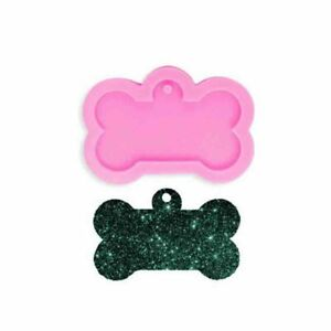 Silicone Bone Shape Pendant Resin Mold Dog Tag Keychain Resin Casting Mould DIY
