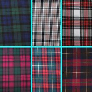 "58"" (147cm) Scottish Fashion Tartan Plaid Check Polyviscose Woven Fabric"