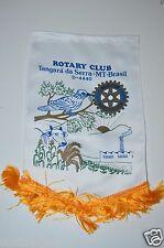 WOW Vintage Tangara da Serra MT Brazil Rotary International Club Banner Brasil