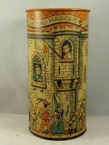 """Rare ancienne boîte tôle tour à système biscuit DE BEUKELAER 1910 """"Prince de LU"""""""
