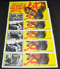 Bruces Deadly Fingers Bruceploitation 5 Spanish Lobby Card Lot - (1976) ITB WH
