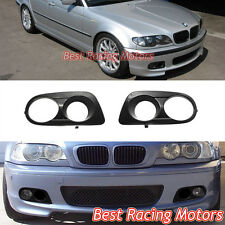 Dual Hole Air Duct Fog Covers (ABS) Fits BMW E46 3-Series M-Tech II Front Bumper